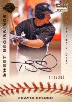 Travis Snider Authentic Autograph Rookie Card