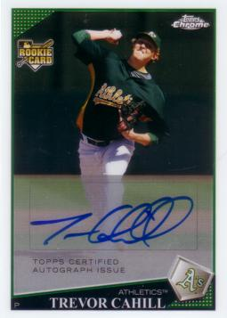 Trevor Cahill Authentic Autograph Rookie Card