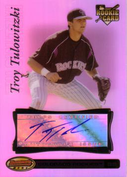 Troy Tulowitzki Authentic Autograph Card