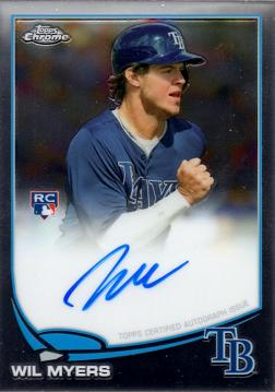 2013 Topps Chrome Wil Myers Autograph Rookie Card