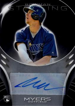 2013 Bowman Sterling Wil Myers Autograph Rookie Card