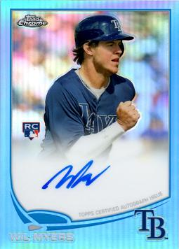 Wil Myers 2013 Topps Chrome Blue Refractor Autograph Rookie Card