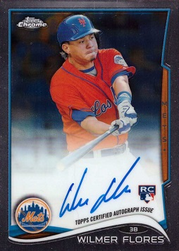 Wilmer Flores Autograph Rookie Card