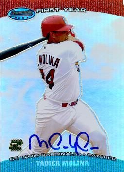 2004 Bowman's Best Yadier Molina Autograph Rookie Card