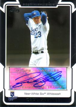 Zack Greinke Authentic Autograph Card