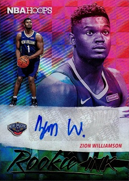2019 Panini NBA Hoops Rookie Ink Zion Williamson Autograph Basketball Card