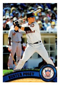 Buster Posey Rookie of the Year Baseball Card