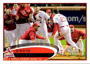 David Freese Walk Off Home Run Card