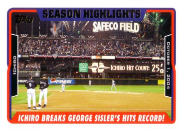 Ichiro Breaks Geoge Sisler's Single Season Hit Record