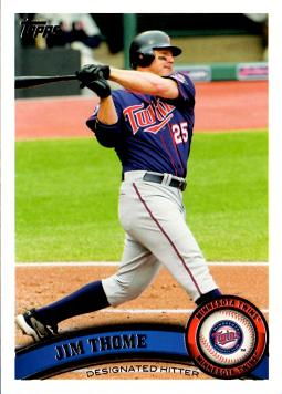 2011 Topps Jim Thome Twins Baseball Card