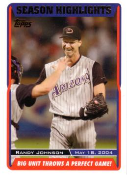 Randy Johnson Throw Perfect Game Card