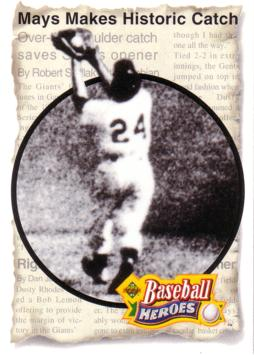 Willie Mays Makes Historic Catch Baseball Card