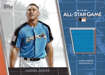 Aaron Judge Event Worn Jersey Card