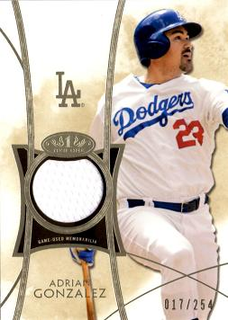 Adrian Gonzalez Game Worn Jersey Card