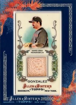 2011 Topps Allen & Ginter Adrian Gonzalez Game Used Bat Card