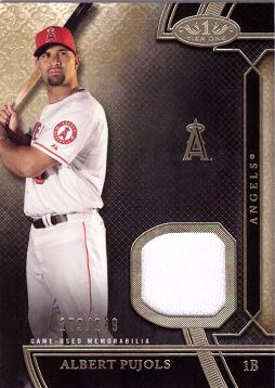 2015 Topps Tier One Relics Albert Pujols Game Worn Jersey Baseball Card