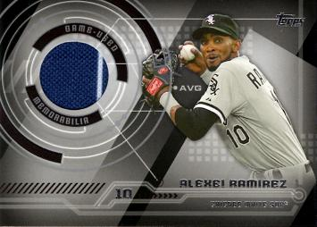 Alexei Ramirez Game Worn Jersey Baseball Card