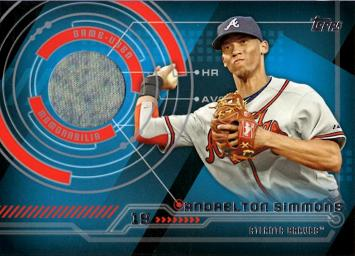 Andrelton Simmons Game Worn Jersey Baseball Card