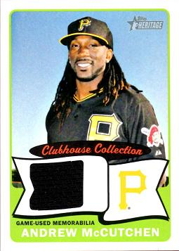 2014 Topps Heritage Andrew McCutchen Game Worn Jersey Baseball Card