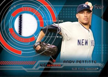 2014 Topps Andy Pettitte Game Worn Jersey Baseball Card