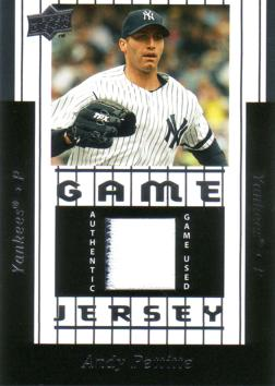 Andy Pettitte Game Worn Jersey Card