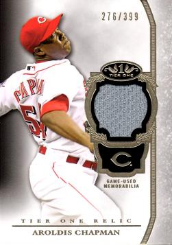 Aroldis Chapman Game Worn Jersey Baseball Card