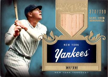 Babe Ruth Game Used Bat Card