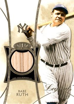 2014 Topps Tier One Relics Babe Ruth Game Used Bat Baseball Card