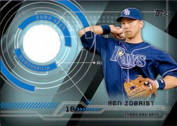 Ben Zobrist Game Worn Jersey Baseball Card