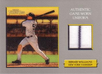 Bernie Williams Game Worn Jersey Card