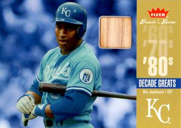 2006 Fleer Greats of the Game Bo Jackson Game Used Bat Card