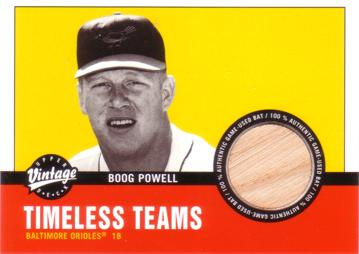 Boog Powell Game Used Bat Card