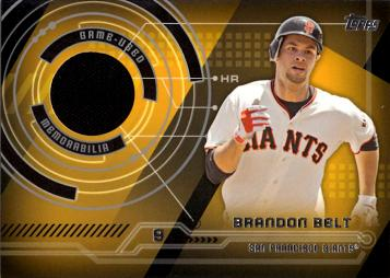 Brandon Belt Game Worn Jersey Baseball Card