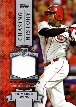 Brandon Phillips Game Worn Jersey Baseball Card