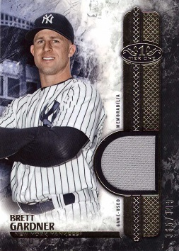 Brett Gardner Game Worn Jersey Card