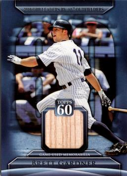 Brett Gardner Game Used Bat Card