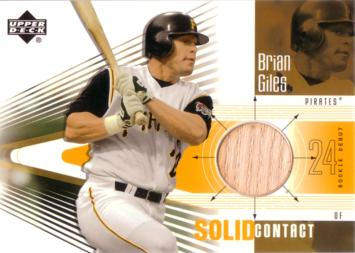 Brian Giles Game Used Bat Card