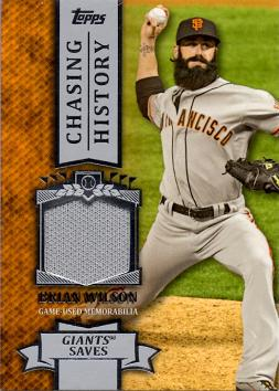 Brian Wilson Game Worn Jersey Card