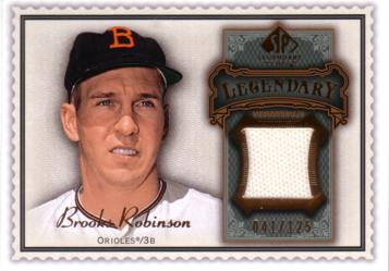 Brooks Robinson Game Worn Jersey Card