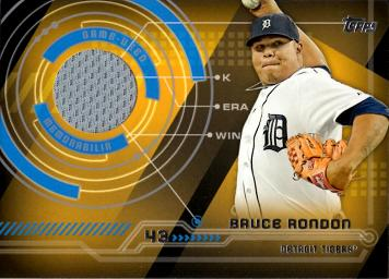 Bruce Rondon Game Worn Jersey Baseball Card