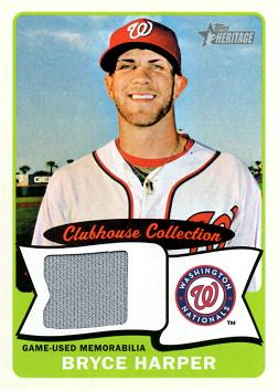 Bryce Harper Game Worn Jersey Baseball Card