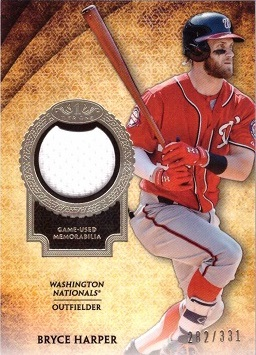 Bryce Harper Game Worn Jersey Card