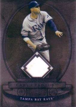 Carl Crawford Game Worn Jersey Card