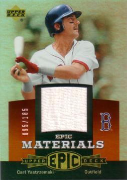 huge selection of c0052 d13d7 Carl Yastrzemski Game Worn Jersey Baseball Card