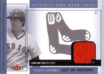 Carlton Fisk Game Worn Jersey Baseball Card