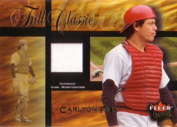 Carlton Fisk Game Worn Jersey Card
