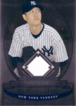 Chien Ming Wang Game Worn Jersey Card