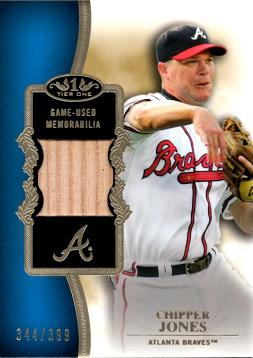Chipper Jones Game Used Bat Card