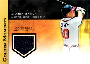 Chipper Jones Game Worn Jersey Card