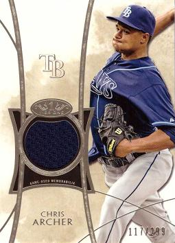Chris Archer Game Worn Jersey Card